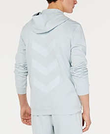 ID Ideology Men's Quarter-Zip Chevron Graphic Hoodie, Created for Macy's