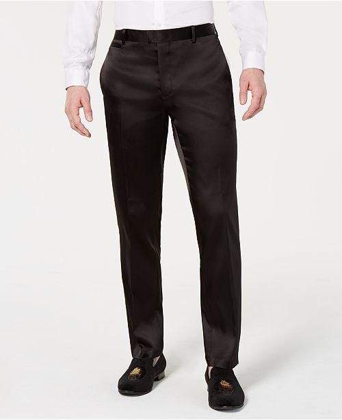 INC International Concepts I.N.C. Men's Slim-Fit Tuxedo Pants, Created for Macy's