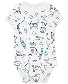 Carter's Baby Boys Cotton Animal-Print Bodysuit