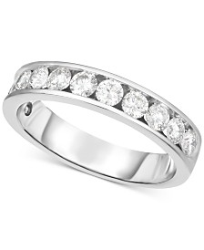 Diamond Channel-Set Band (9/10 ct. t.w.) in 14k White Gold