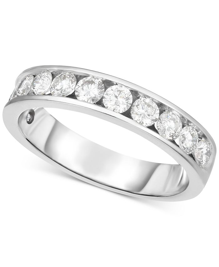 Hearts.Arrows.Together - Diamond Channel-Set Band (9/10 ct. t.w.) in 14k White Gold