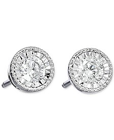 Diamond Milgrain Stud Earrings (3/4 ct. t.w.) in 14k White Gold