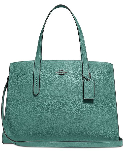 5bab8e6f19 COACH Charlie Medium Carryall in Pebble Leather   Reviews - Handbags ...