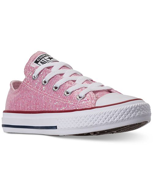 ... Converse Little Girls  Chuck Taylor All Star Ox Casual Sneakers from  Finish ... 38bf43bdd6a7