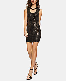BCBGeneration Metallic Cutout Bodycon Dress