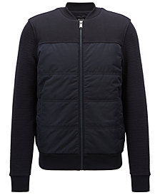 BOSS Men's Padded Bomber Sweatshirt