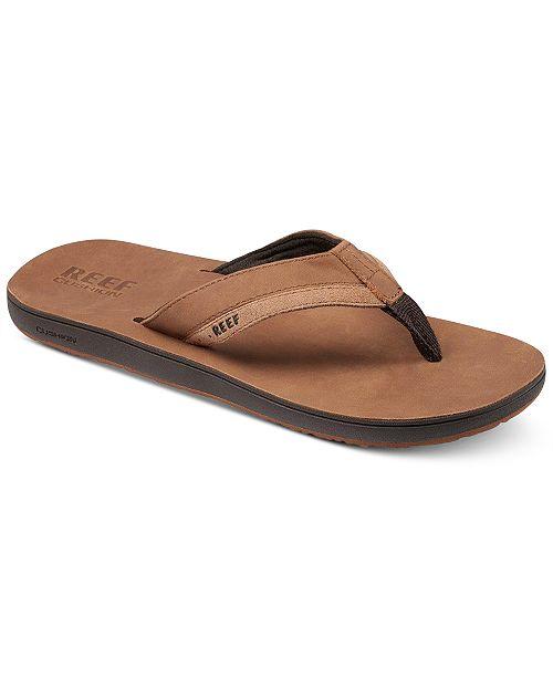REEF Men's Leather Contour Cushion Sandals