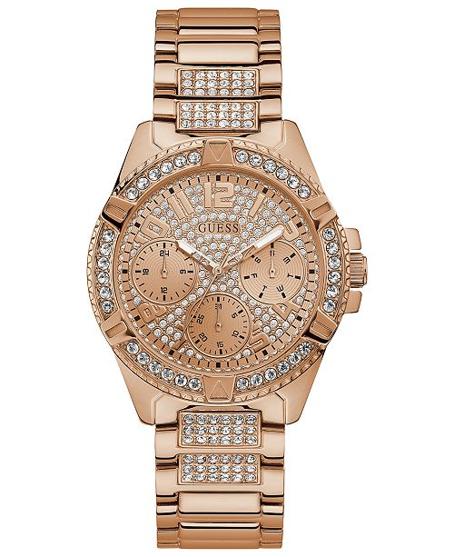 GUESS Women's Lady Frontier Gold-Tone Stainless Steel Bracelet Watch 40mm