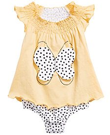 First Impressions Baby Girls Cotton Butterfly Skirted Romper, Created for Macy's