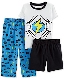 Carter's Toddler Boys 3-Pc. Superhero Pajamas
