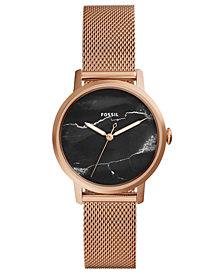 Fossil Women's Neely Rose Gold-Tone Stainless Steel Mesh Bracelet Watch 34mm