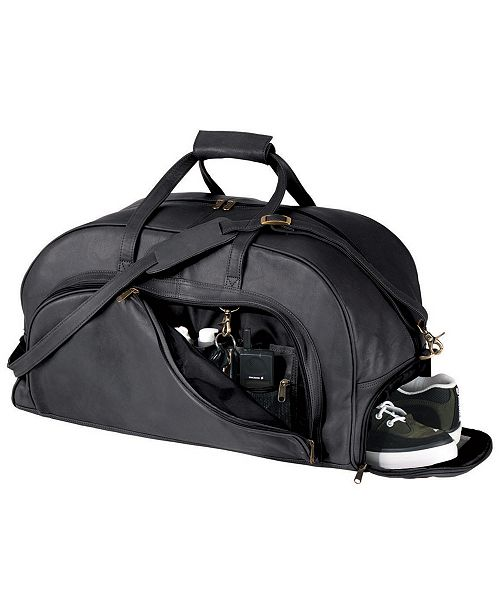 Royce Leather Royce New York Weekender Duffel Bag with Shoe Compartment