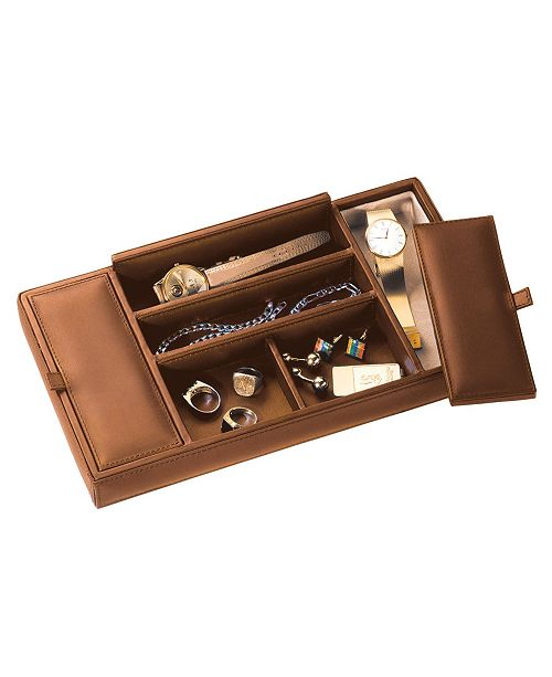Royce Leather Royce New York Suede Lined Dresser Valet Tray