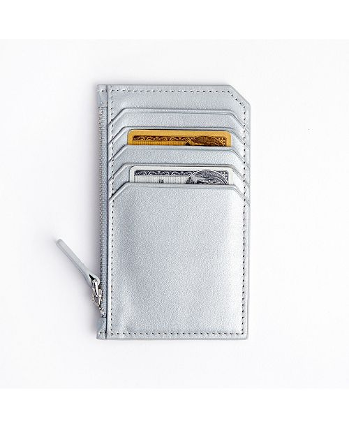 Royce Leather Royce New York Zippered Credit Card Wallet
