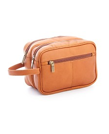 Royce New York Double Zippered Toiletry Bag