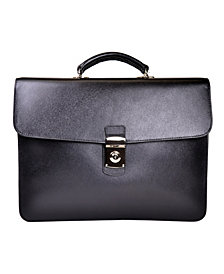 Royce New York Suede Lined Single Gusset Briefcase