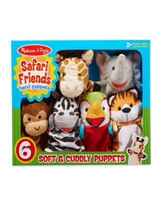 Melissa and Doug 6-Piece Safari Puppet Set