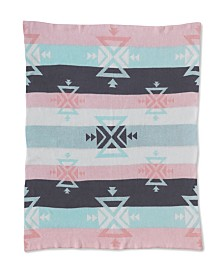 Lolli Living Knitted Cotton Baby Blanket - Aztec