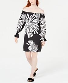 Trina Trina Turk Off-The-Shoulder Shift Dress