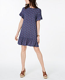 MICHAEL Michael Kors Printed Ruffle Sheath Dress, In Regular & Petite Sizes