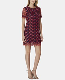 Tahari ASL Two-Tone Daisy Lace Dress