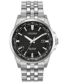 Citizen Eco-Drive Men's World Time Stainless Steel Bracelet Watch 41mm