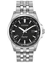 21fedecc978 Citizen Eco-Drive Men s World Time Stainless Steel Bracelet Watch 41mm
