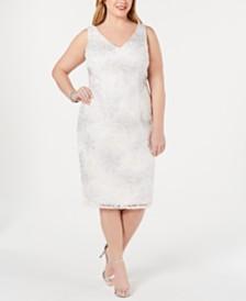 Adrianna Papell Plus Size Soutache Sheath Dress