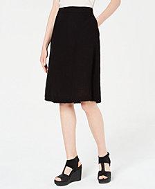 Eileen Fisher Organic Cotton Crinkle A-Line Skirt, Regular & Petite