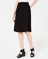 09ecd4ea5f Eileen Fisher Organic Cotton Crinkle A-Line Skirt, Regular & Petite