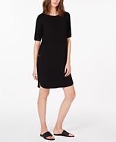 97e093c59243d Eileen Fisher Short-Sleeve Dress, Regular & Petite