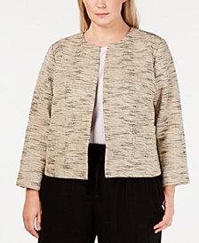 Eileen Fisher Plus Size Bracelet-Sleeve Jacket