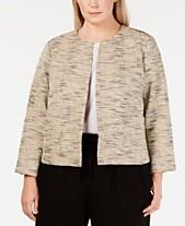 b7402edc34f69 Eileen Fisher Plus Size Bracelet-Sleeve Jacket