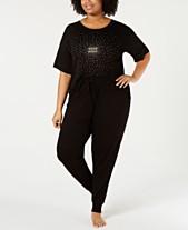 9dab044905a2 Jenni by Jennifer Moore Plus Size Core Short-Sleeve Top & Pajama Pants  Sleep Separates