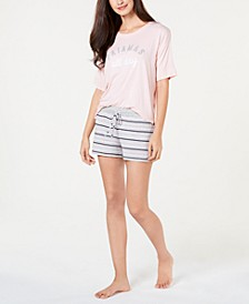 by Jennifer Moore Core Short-Sleeve Top & Pajama Shorts Sleep Separates, Created for Macy's