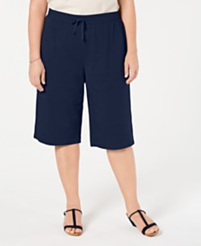 Karen Scott Plus Size Skimmer Pants, Created for Macy's