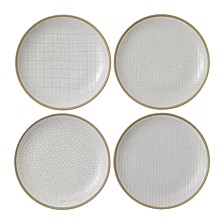 Royal Doulton Exclusively for Maze Grill Mixed White Salad Plate, Set of 4