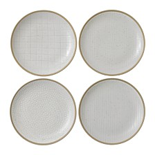 Royal Doulton Exclusively for Gordon Ramsay Maze Grill Mixed White Salad Plate, Set of 4