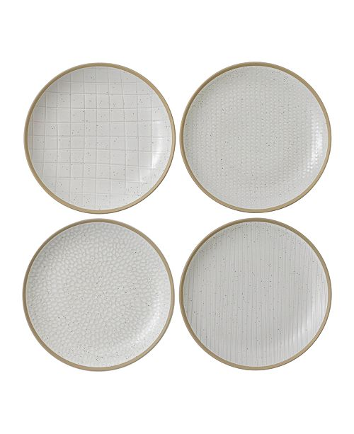 Gordon Ramsay Royal Doulton Exclusively for Maze Grill Mixed White Salad Plate, Set of 4
