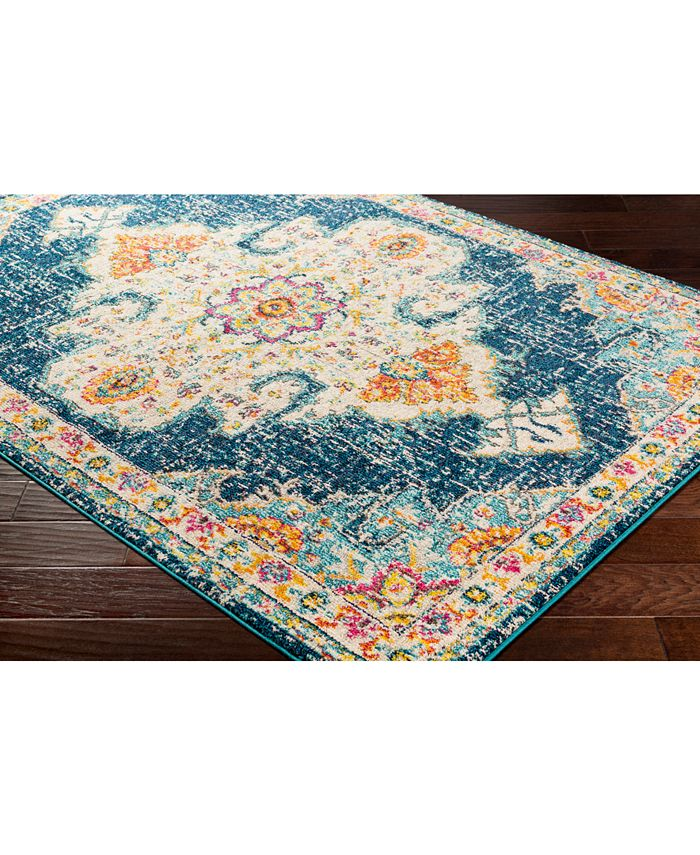 """Abbie & Allie Rugs - Morocco MRC-2308 Teal 18"""" Square Swatch"""