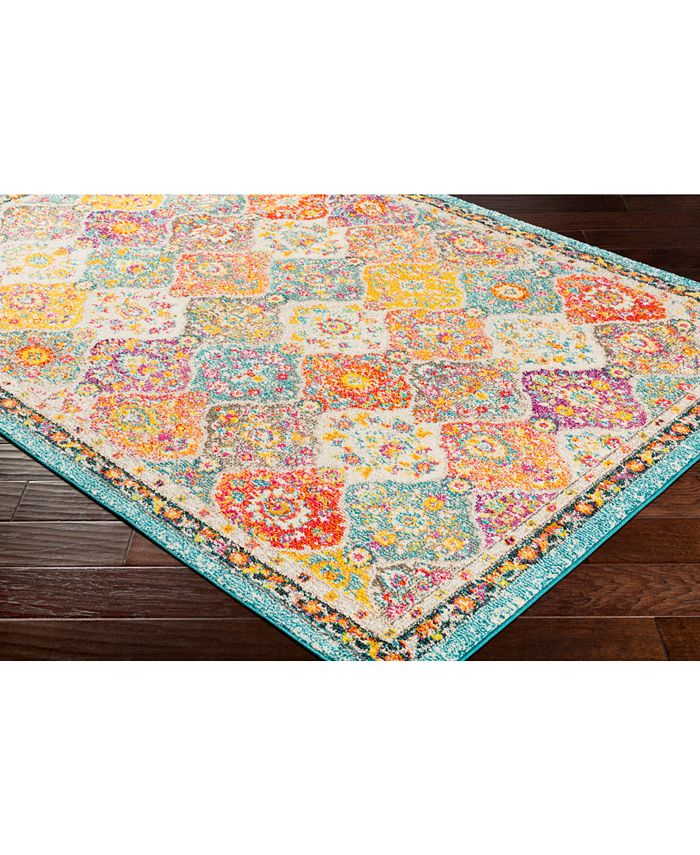 """Abbie & Allie Rugs - Morocco MRC-2313 Teal 18"""" Square Swatch"""