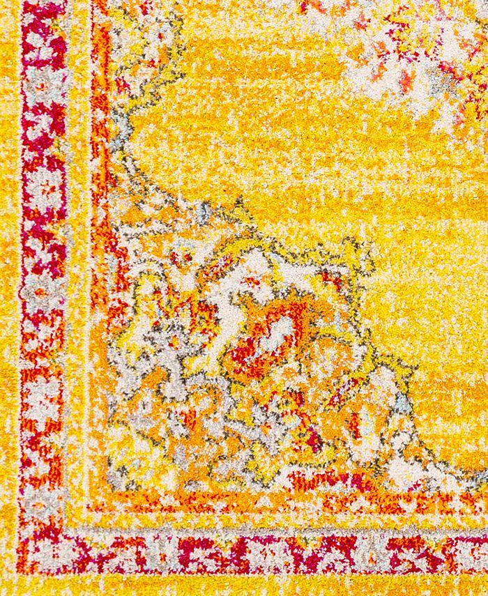 "Abbie & Allie Rugs - Morocco MRC-2325 Saffron 18"" Square Swatch"