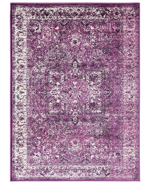 """Surya Mumbai MUM-2316 Dark Purple 3'11"""" x 5'7"""" Area Rug"""