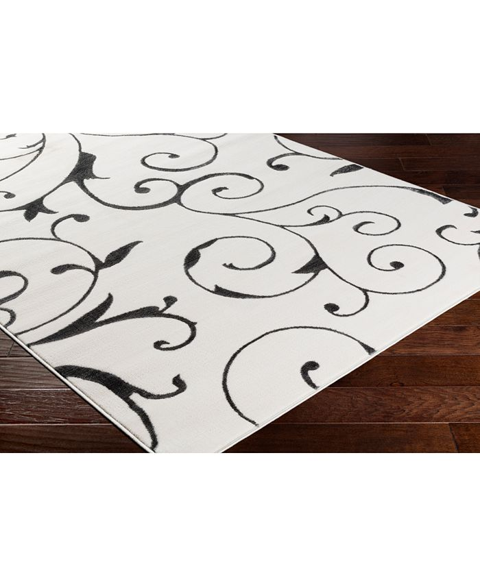 """Abbie & Allie Rugs - Rabat RBT-2303 Charcoal 18"""" Square Swatch"""