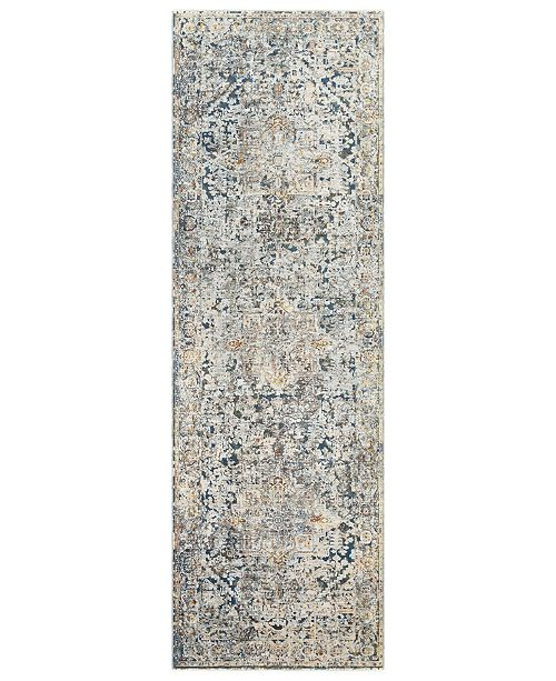 "Surya Presidential PDT-2300 Pale Blue 3'3"" x 10' Runner Area Rug"