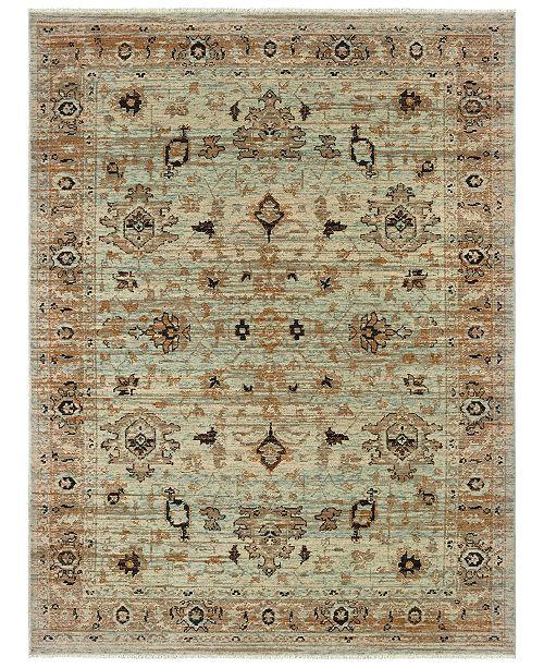 "Oriental Weavers Anatolia 8020H Blue/Gold 9'10"" x 12'10"" Area Rug"