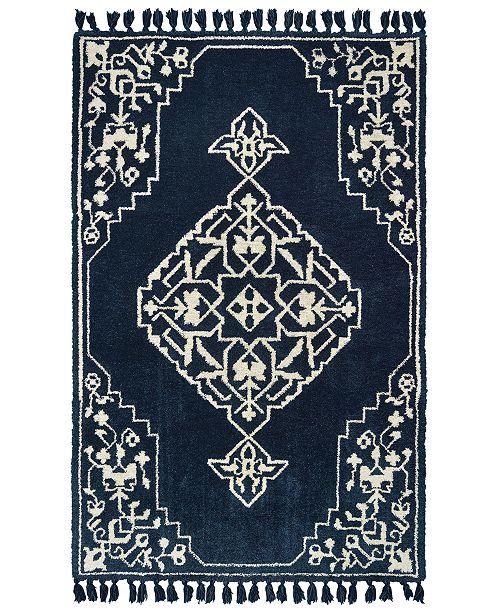 """Oriental Weavers Madison 61410 Blue/Ivory 3'6"""" x 5'6"""" Area Rug"""