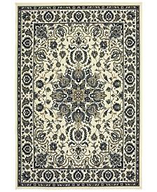"""Oriental Weavers Marina 1248W Ivory/Navy 7'10"""" x 10'10"""" Indoor/Outdoor Area Rug"""