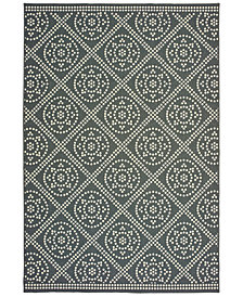 "Oriental Weavers Marina 3969L Gray/Ivory 7'10"" x 10'10"" Indoor/Outdoor Area Rug"