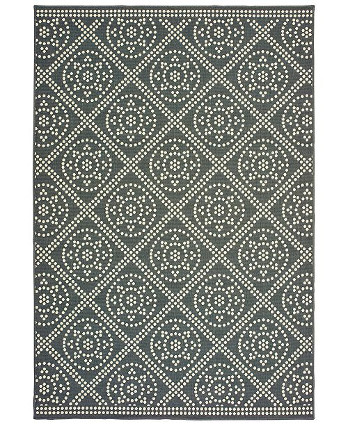 "Oriental Weavers Marina 3969L Gray/Ivory 8'6"" x 13' Indoor/Outdoor Area Rug"